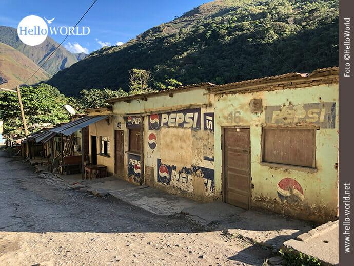 Am Rande der bolivianischen Yungas Road
