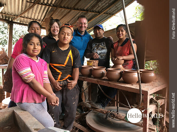 Gruppenbild mit Eliceo und Familie: Ingrid, Katy, Hernan und Tania (v.l.n.r.)