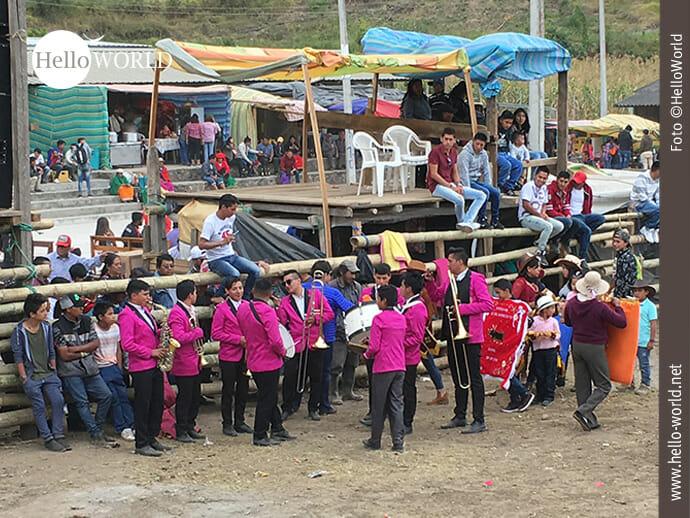 Auftakt zum Stierkampf in Ecuador