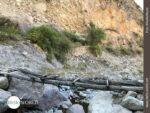 Praktisches Provisorium: Holzbrücke am Rio Colca