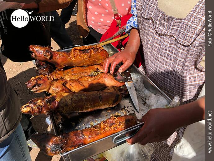 Verzehrbereit: schmackhafte Meerschweinchen in Peru