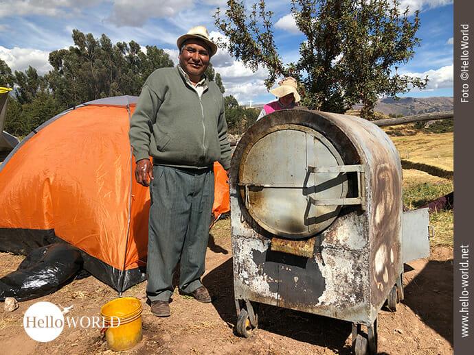 Hier gab es Zubereitungstipps für peruanisches Cuy