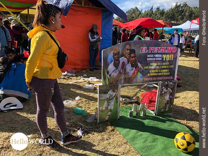 Torschützen gesucht auf einem Volksfest in Peru