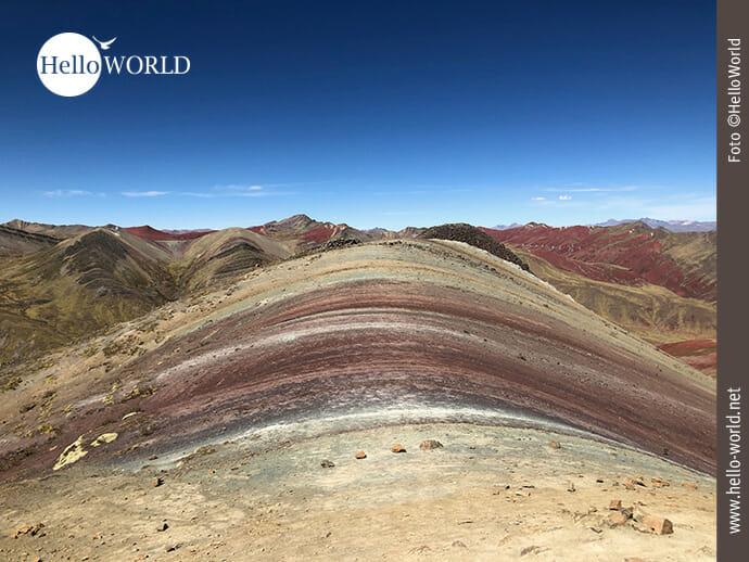 Tolles Farbspiel: Perus Palccoyo Rainbow Mountain