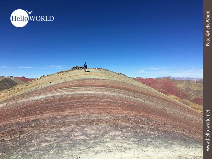 Hoch oben auf dem Palccoyo Rainbow Mountain
