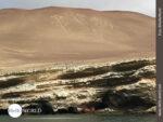 Felsenzeichnung El Candelabro an der Küste von Peru