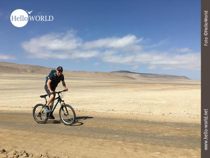 Mit dem Mountainbike im Nationalreservat Paracas