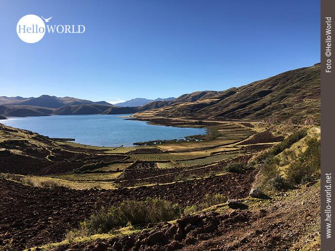 Blick auf die Lagune Asnacocha im Valle Sagrado