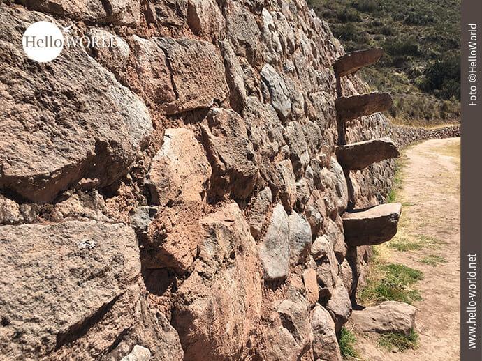 Treppenstufen im peruanischen Moray