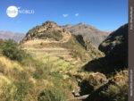 Aus der Ferne betrachtet: die Inka-Ruinen von Pisaq