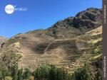Inka typische Terrassen-Bauweise in Peru