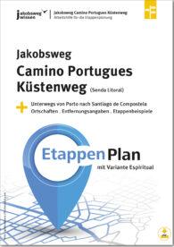 Dies ist die Titelseite der Etappenplanung für den Camino Portugues Küstenweg.
