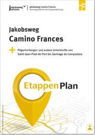 Titelbild des Camino Frances Etappenplans.