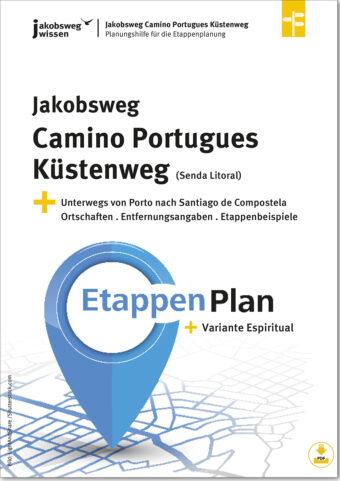 Hier sieht man den Titel der Etappenplanung für den Camino Portugues Küstenweg (Senda Litoral)