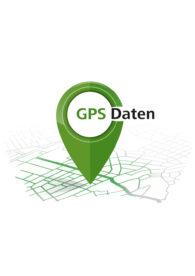 Hier sieht man einen grünen Pin als Zeichen für die GPS-Daten des Mosel-Camino.