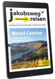 Das ist das Titelblatt des eMagazins Jakobsweg Reisen kompakt mit Schwerpunkt Mosel-Camino.